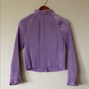 Kourt Purple High Neck Top--Few Moda